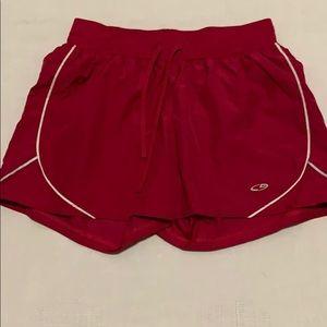 3/$10 EUC Champion red Quick dry shorts